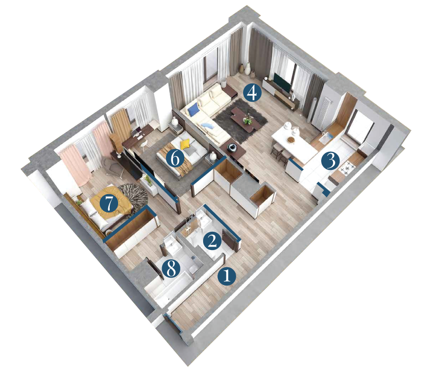 Bella Vita Apartments: Apartament 3 Camere Tip A2 1