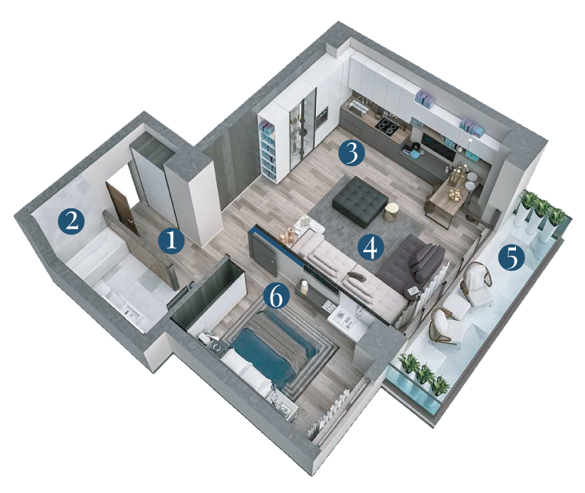 Bella Vita Apartments: Apartament 2 Camere Tip A5 5