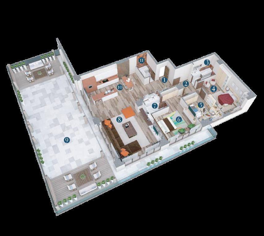 Bella Vita Apartments: Apartament Penthouse Tip C8 1