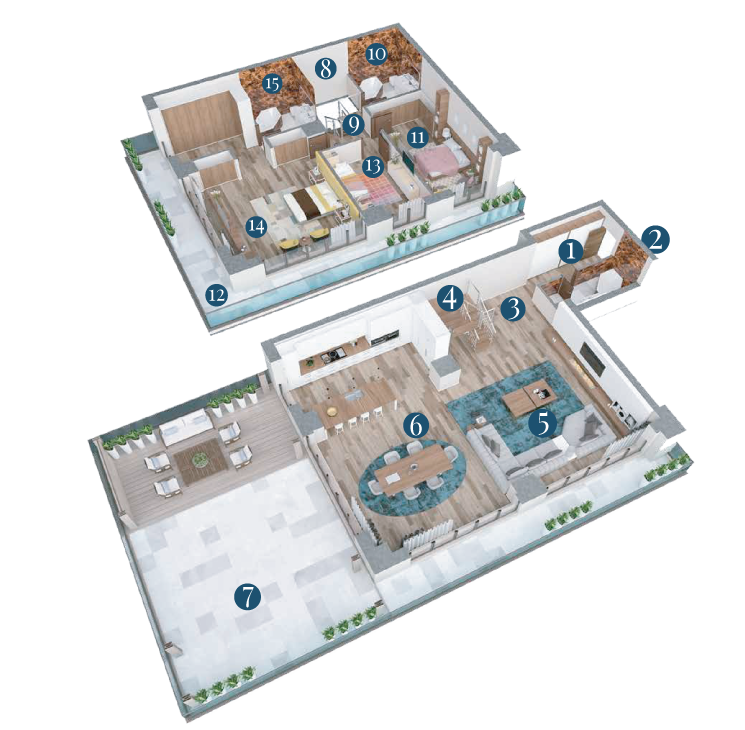 Bella Vita Apartments: Apartament Duplex Tip C67 3